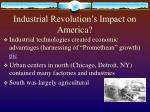 industrial revolution s impact on america