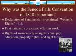 why was the seneca falls convention of 1848 important