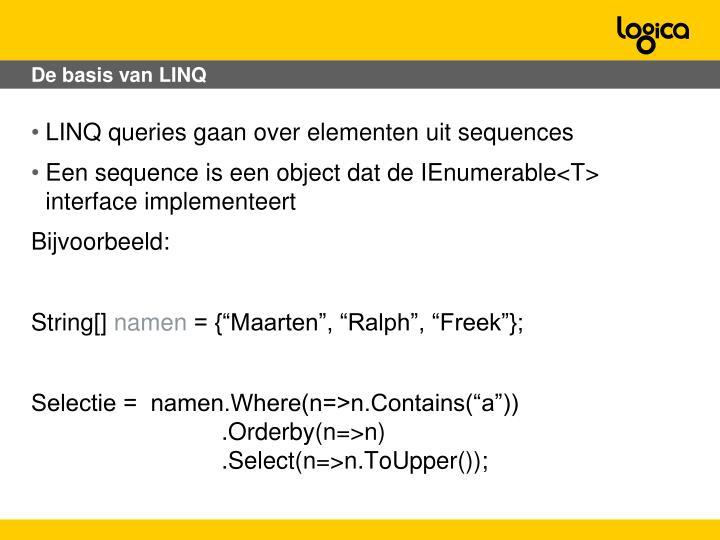 De basis van LINQ