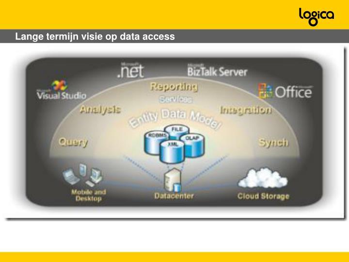 Lange termijn visie op data access