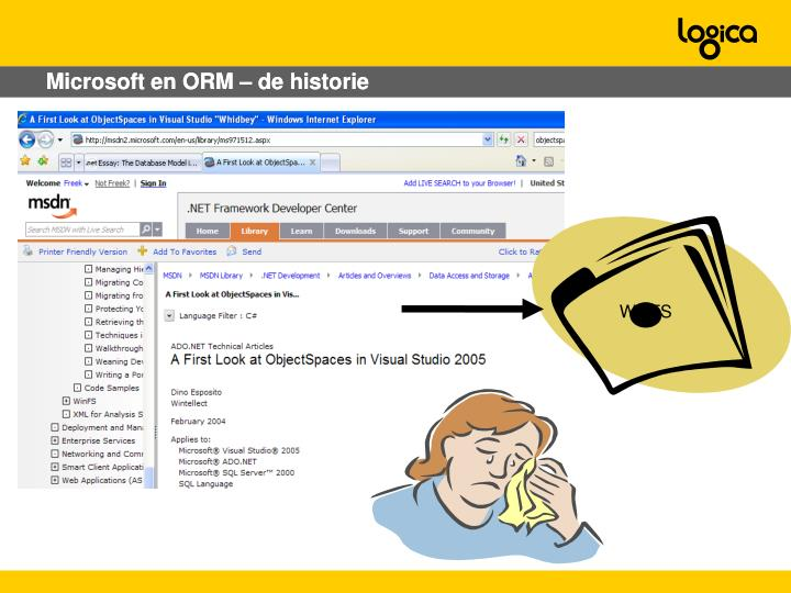 Microsoft en ORM – de historie