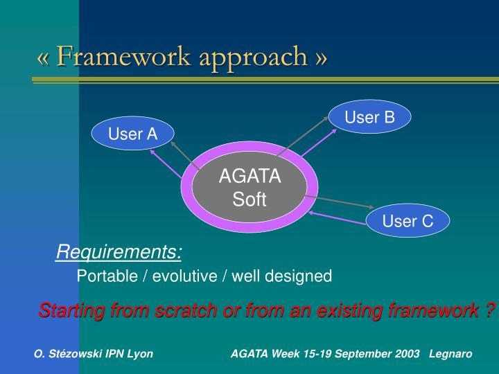 «Framework approach»