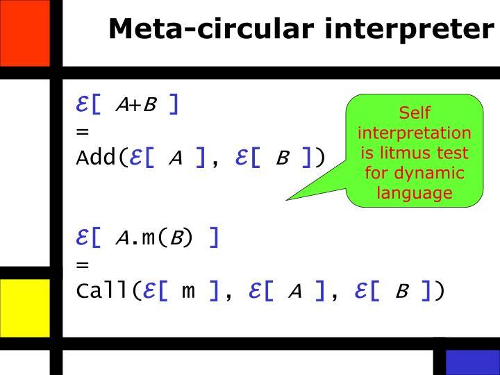 Meta-circular interpreter