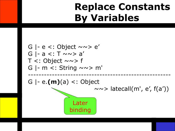 Replace Constants