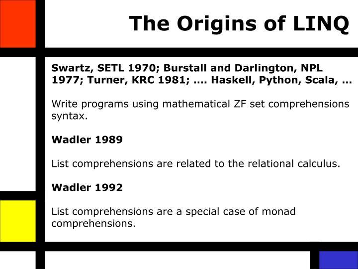 The Origins of LINQ