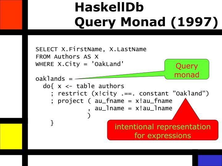 HaskellDb