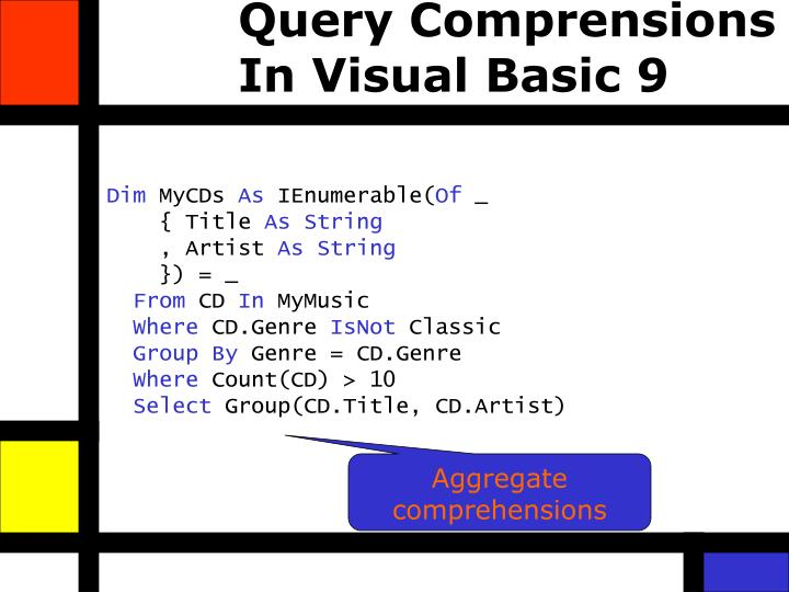 Query Comprensions