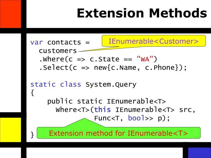 Extension Methods