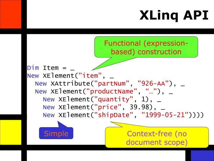 XLinq API