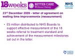 23 rd december 2009 letter of agreement on waiting time improvements measurement2