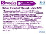calum campbell report july 20101