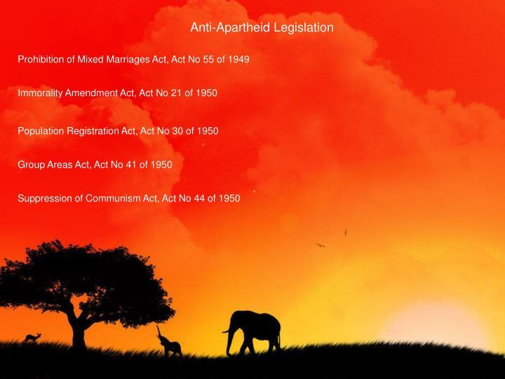 Anti-Apartheid Legislation