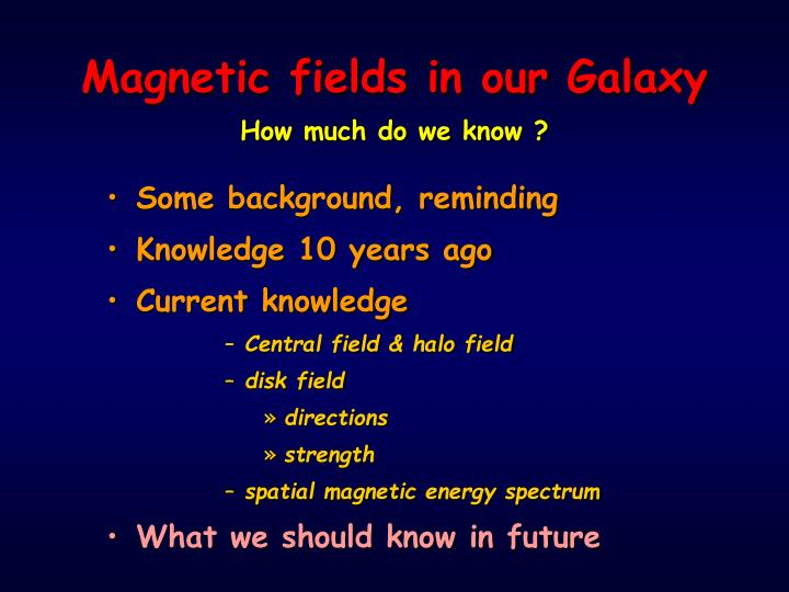 Magnetic fields in our Galaxy
