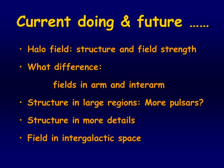 Halo field: structure and field strength