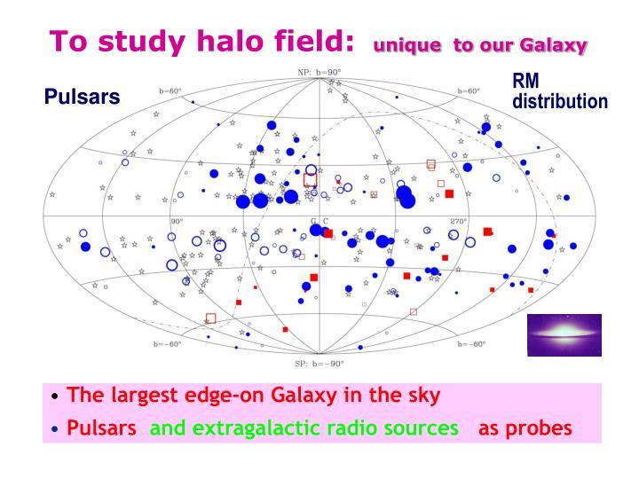 To study halo field: