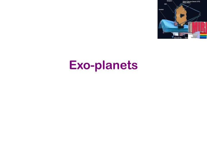 Exo-planets