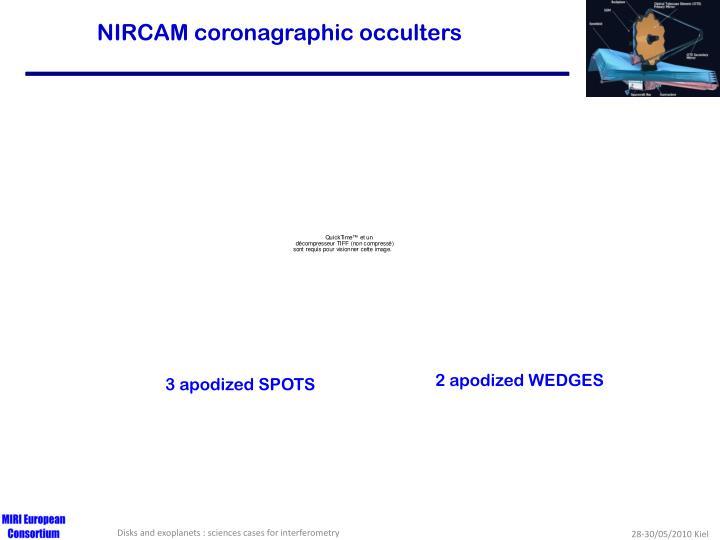 NIRCAM coronagraphic occulters