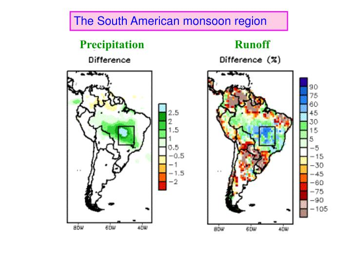 The South American monsoon region
