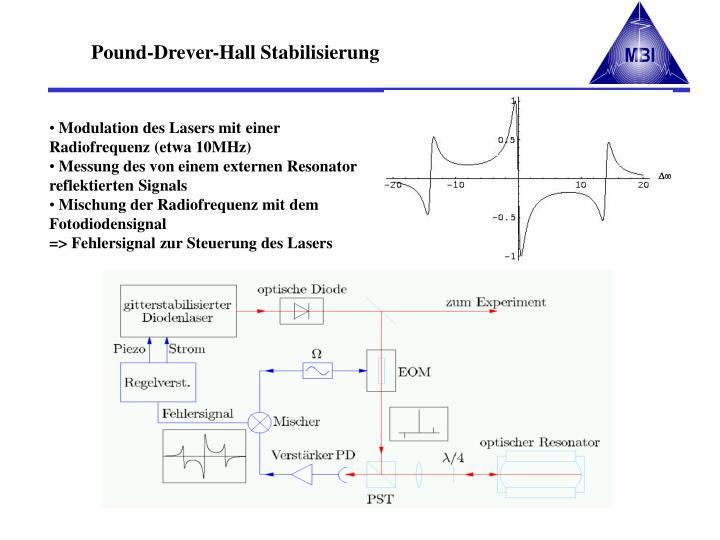 Pound-Drever-Hall Stabilisierung