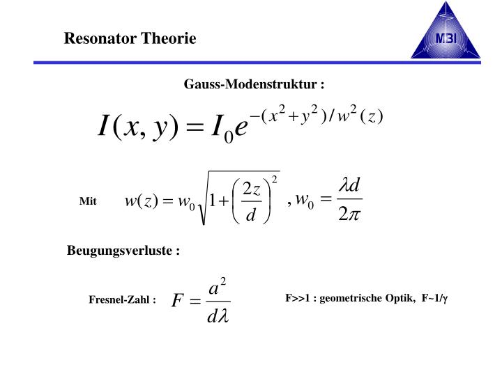 Gauss-Modenstruktur :