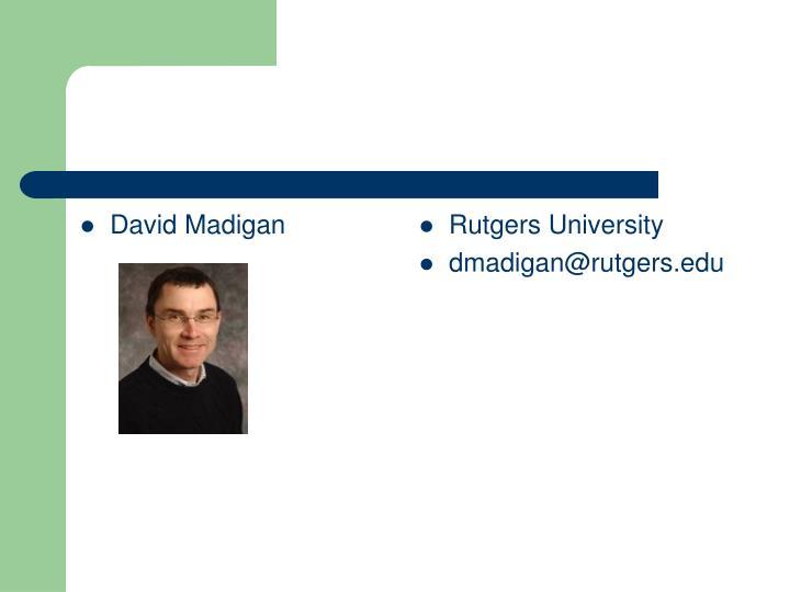 David Madigan