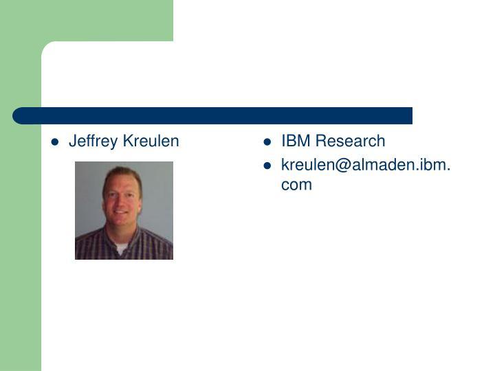 Jeffrey Kreulen
