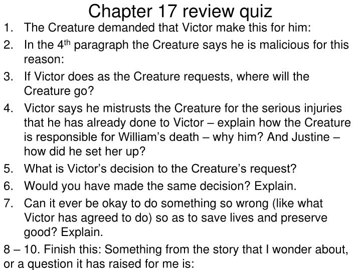 Chapter 17 review quiz