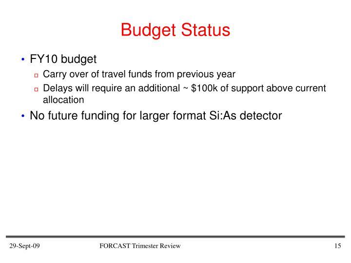 Budget Status