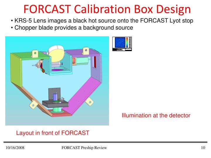 FORCAST Calibration Box Design