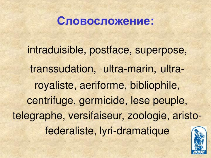 intraduisible, postface, superpose, transsudation,