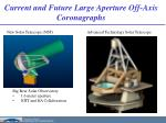 current and future large aperture off axis coronagraphs