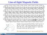 line of sight magnetic fields1