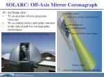 solarc off axis mirror coronagraph