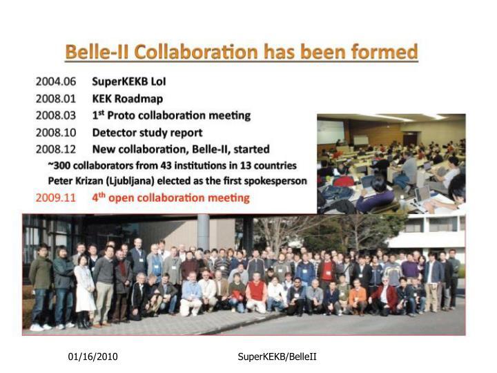 SuperKEKB/BelleII