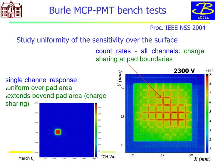 Burle MCP-PMT bench tests