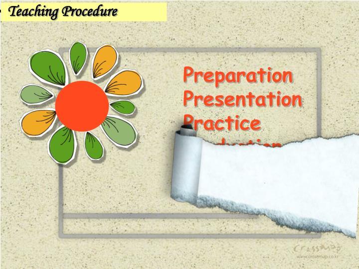 Teaching Procedure