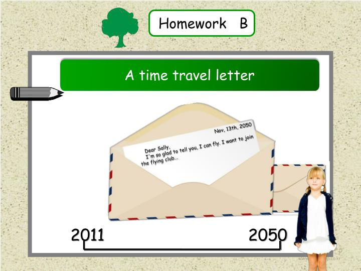 A time travel letter