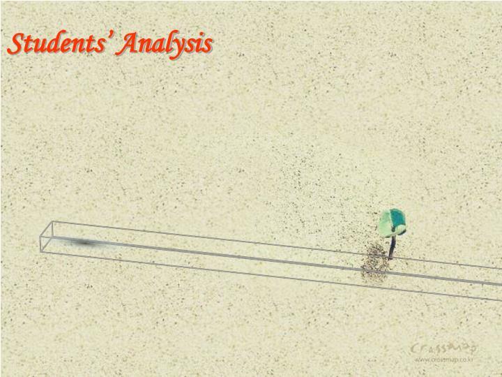 Students' Analysis