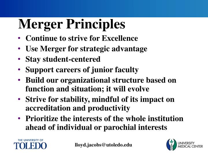 Merger Principles