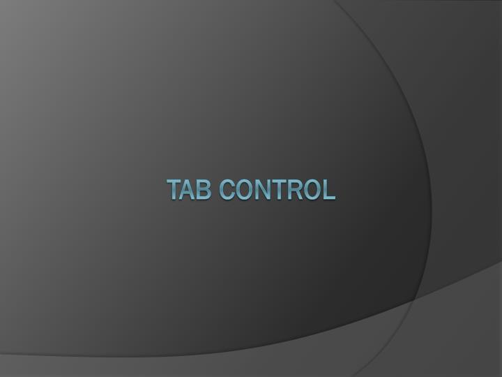 Tab Control
