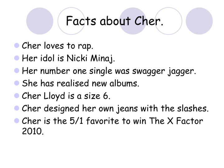 Facts about Cher.