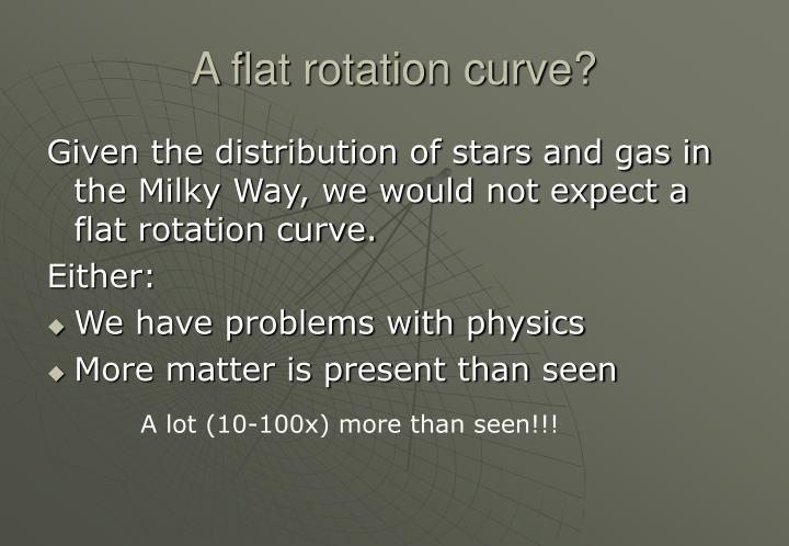 A flat rotation curve?