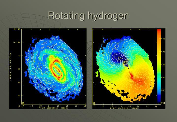 Rotating hydrogen