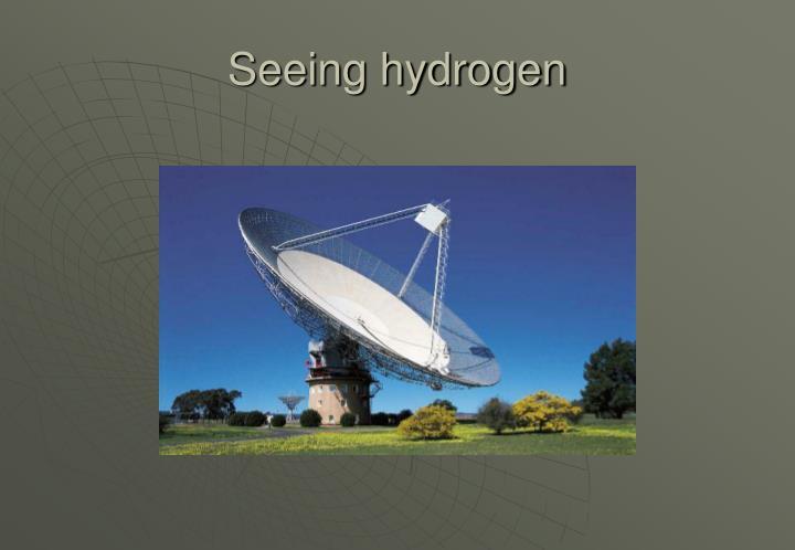 Seeing hydrogen
