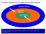 a holistic approach to occupational accident analysis