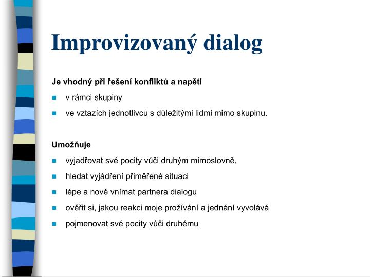 Improvizovaný dialog