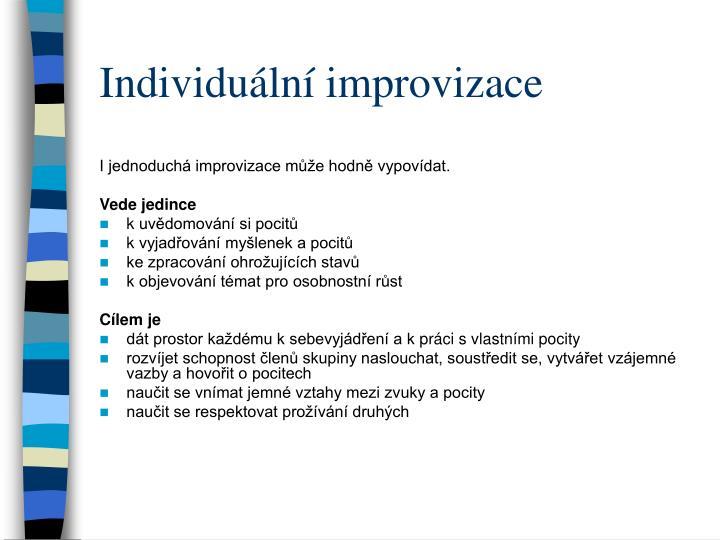 Individuální improvizace