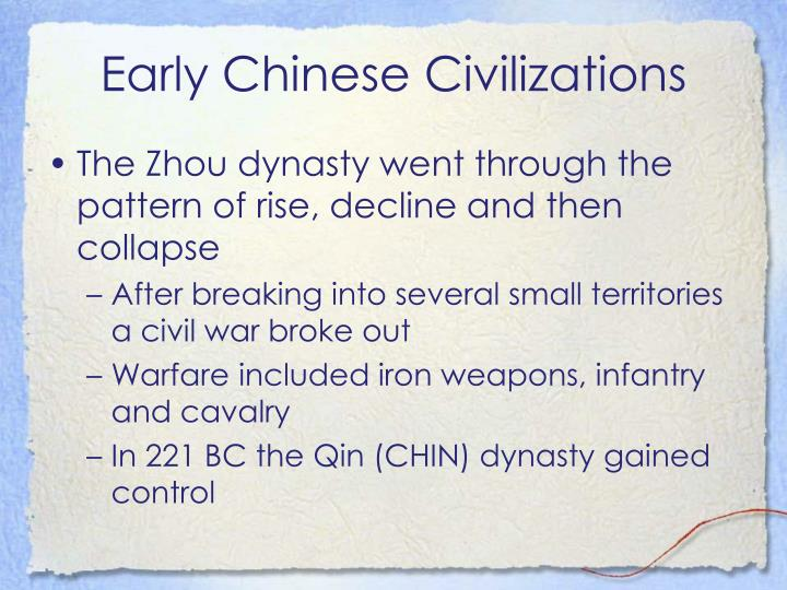 Early Chinese Civilizations