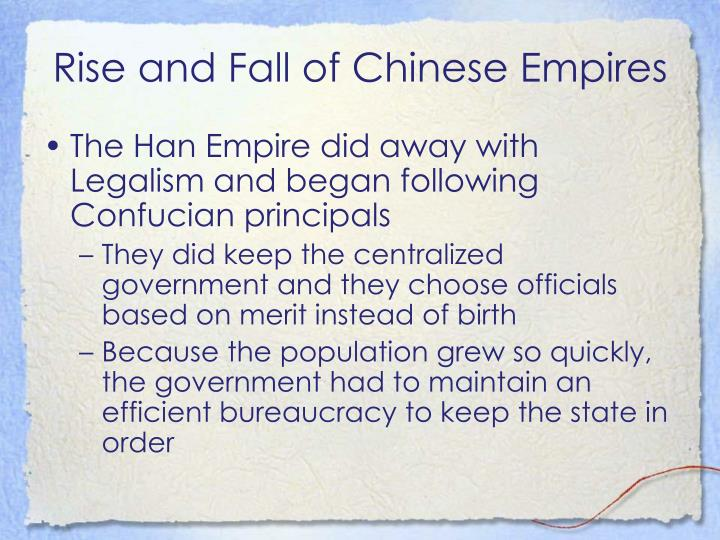 Rise and Fall of Chinese Empires