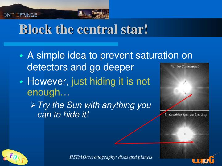 Block the central star!
